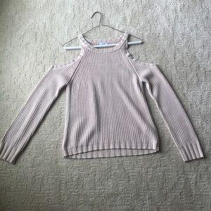 Rails Cold Shoulder Sweater Blush Pink